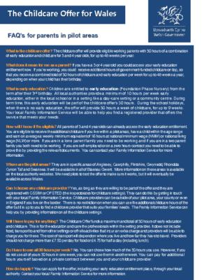 FAQ Childcare offer