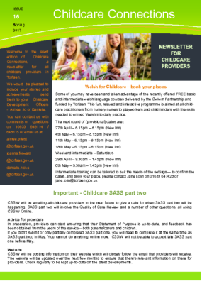 Childcare connections issue 16 Spring 2017